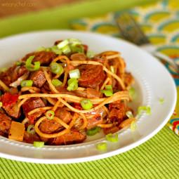 Cajun Jambalaya Pasta: A tasty, fun sausage dish!