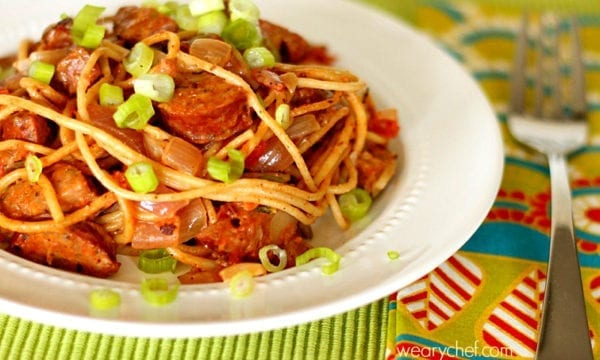 Cajun Jambalaya Pasta - An easy, restaurant-quality dinner!
