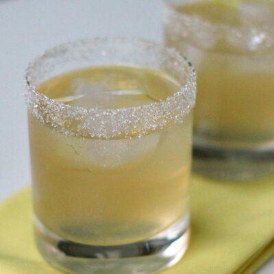 Lemon Drop Cocktail on the Rocks