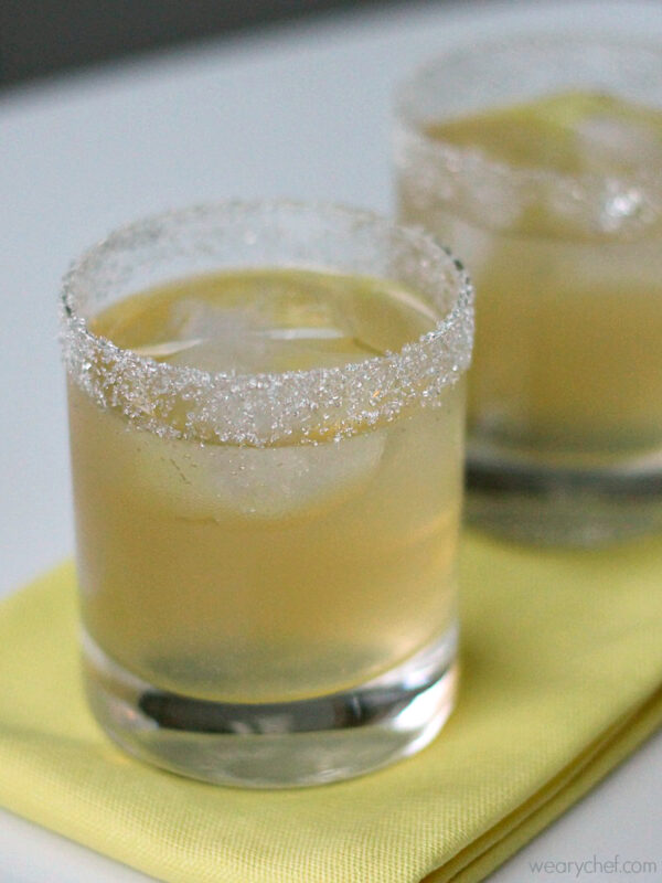 Lemon Drop Cocktail on the Rocks (Sweetened with agave nectar!)