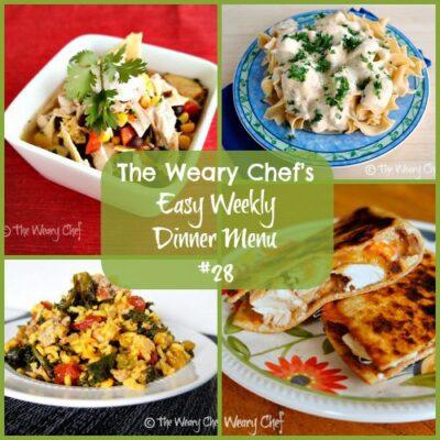 Easy Weekly Dinner Menu #28: Too many flavors.