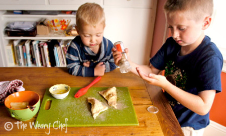 Crescent Roll Pear Turnovers - Easy dessert, great to make with kids!