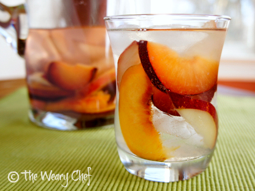 Sake Sangria with Summer Fruit - Light, refreshing way to enjoy sake!