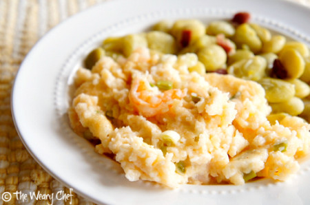 Shrimp and Grits - Cheesy, hearty, perfect Southern meal!