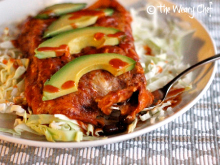 Quick Bean and Cheese Enchiladas - Ready in 15 minutes! | The Weary Chef
