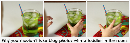 Caribbean Water Cocktail: Why you shouldn't take blog photos with a toddler in the room | The Weary Chef
