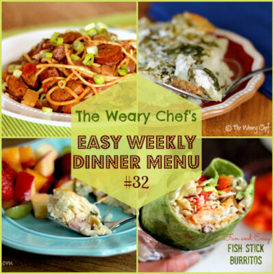 Easy Weekly Dinner Menu #32: Eggs are not just for breakfast.