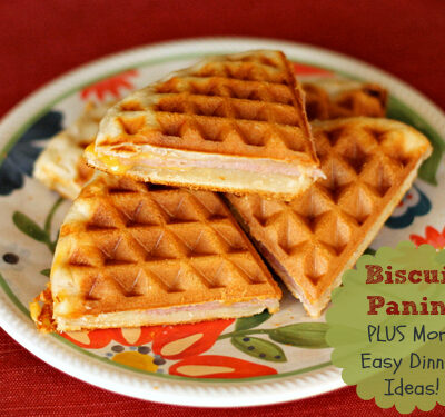 Ham and Cheese Biscuit Panini