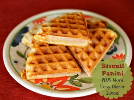 Biscuit Panini PLUS other easy dinner ideas with refrigerator dough! | The Weary Chef