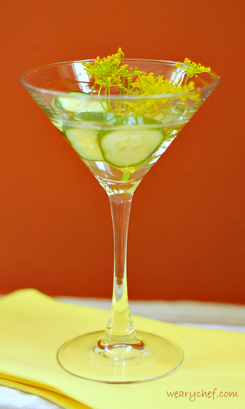 Cucumber Dill Martini | The Weary Chef #cocktail #martini