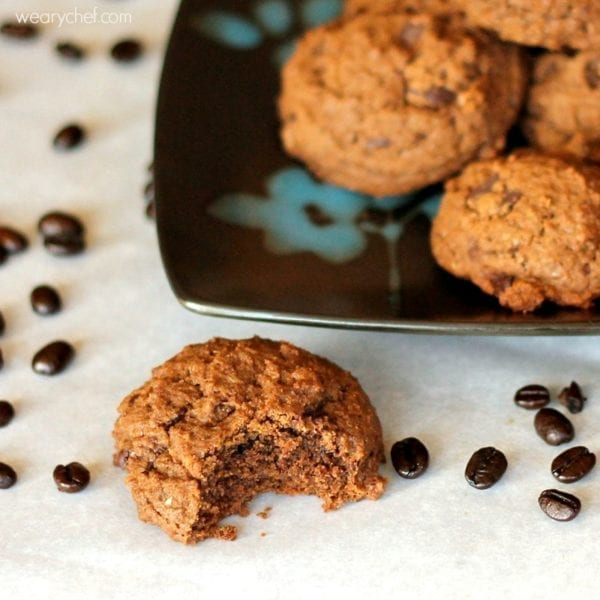 Dark Chocolate Espresso Cookies - A chocolate and coffee lover's dream cookie recipe!