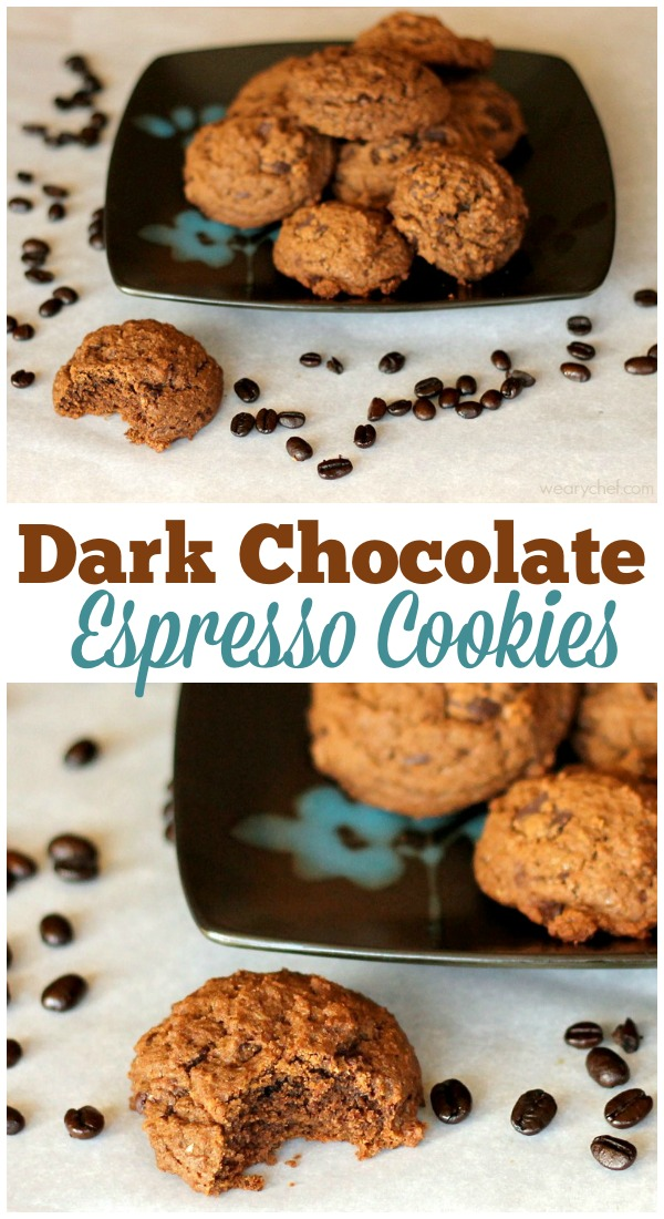 These Dark Chocolate Espresso Cookies are a chocolate and coffee lover's dream cookie recipe!