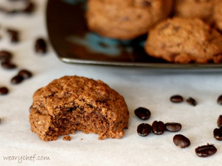 Dark Chocolate Espresso Cookies: The perfect fix for any #chocolate craving! | The Weary Chef