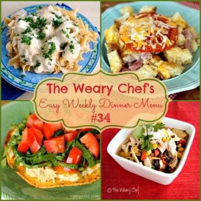 Easy Weekly Dinner Menu #34 – Fun with Sandwiches and other Casual Dinners.