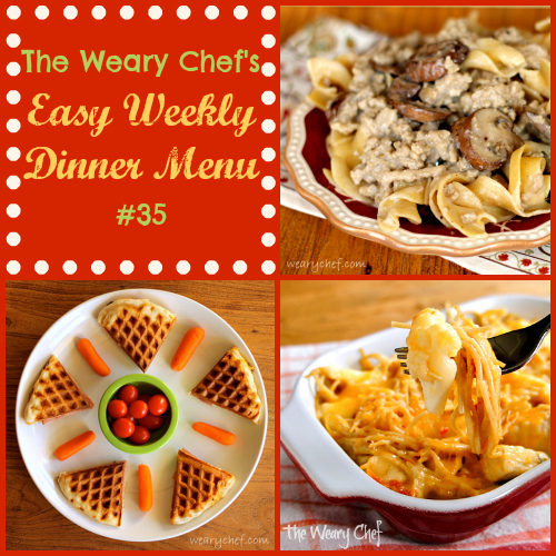 Easy Weekly Dinner Menu 35 - Check out these seven quick dinner ideas!