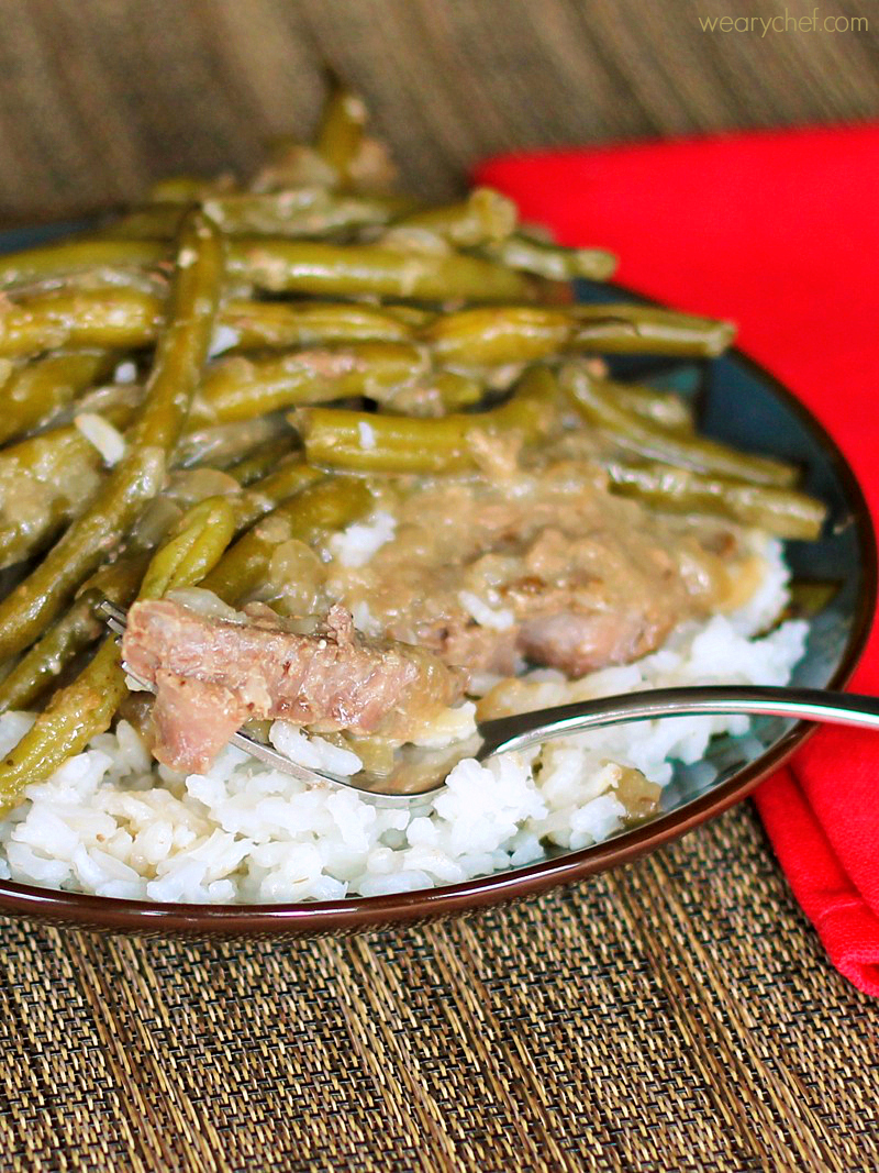 Fork Tender Steaks With Green Beans And Gravy: A Frugal