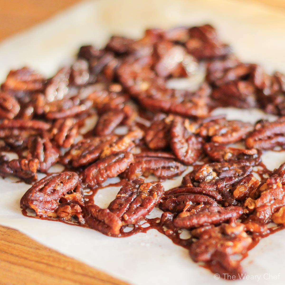 Easy glazed pecans make a great homemade gift!
