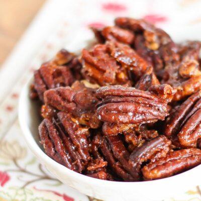 Easy Cinnamon Glazed Pecans