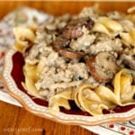 Healthy Hamburger Stroganoff from Scratch