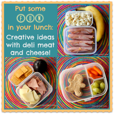 Easy and Fun Lunchbox Ideas with Deli Meat and Cheese Slices