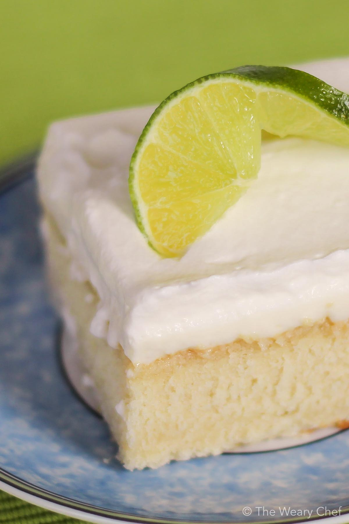 This sweet and tangy Lime Poke Cake is a perfect cake recipe for key lime pie lovers! #dessert #pokecake #lime #cake