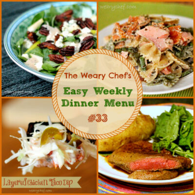 Easy Weekly Dinner Menu #33: Fancy Can Be Easy.