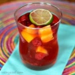Very Pink Sangria with Raspberries and Mango