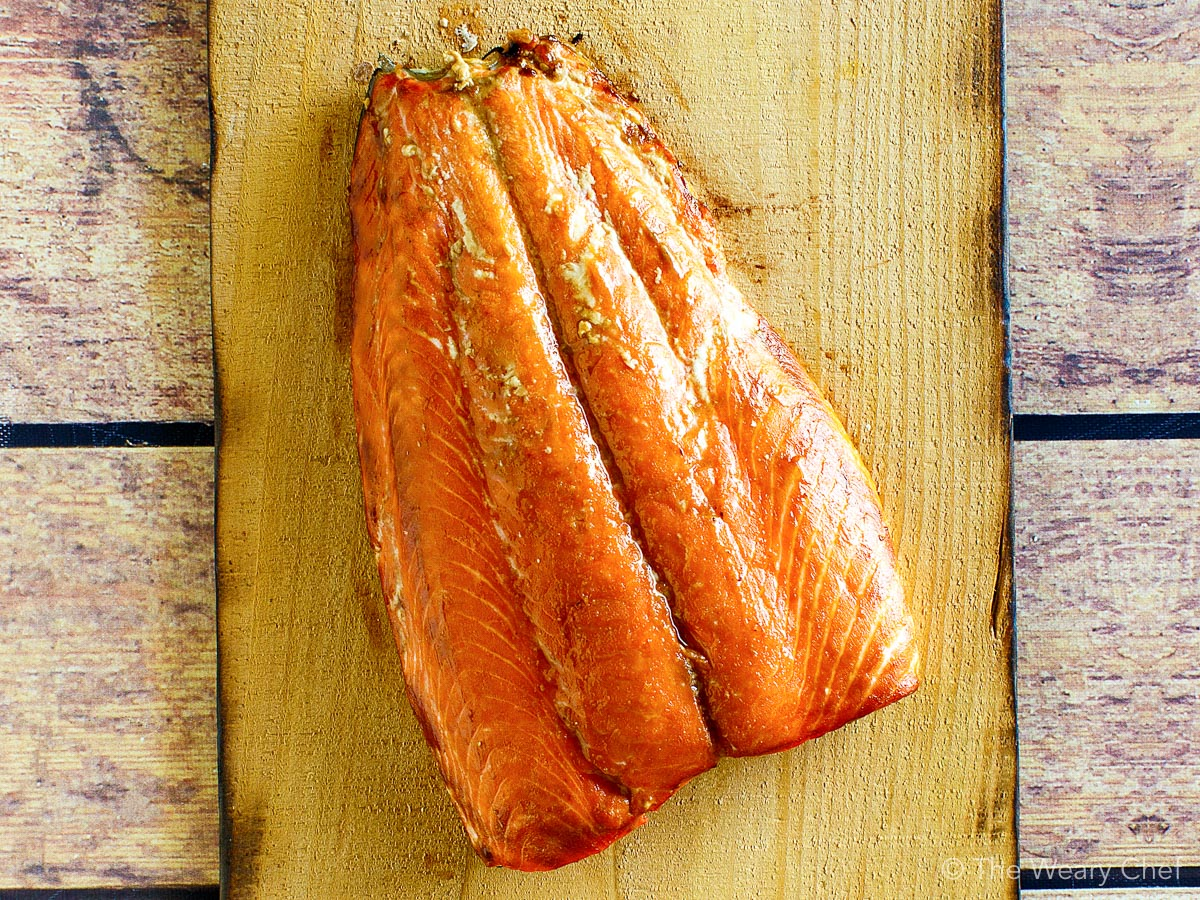 Hot smoked salmon for Salmon Pesto Pasta Salad