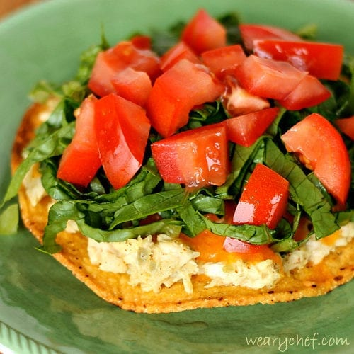Tuna Melt Tostada - Add some crunch to a classic sandwich!