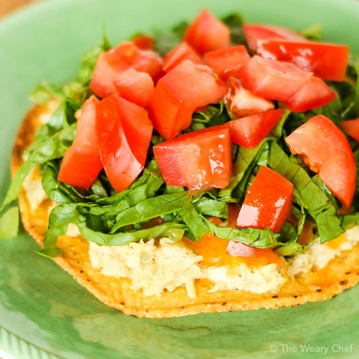 These crunchy tuna salad tostadas are a fun and easy dinner recipe!