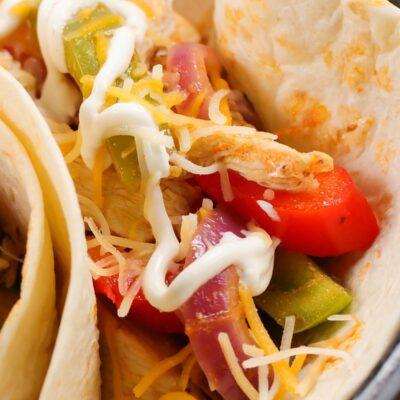 Quick Buffalo Chicken Tacos
