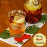 Cherry Apple Sangria: Perfect drink for holiday cocktail parties!