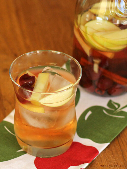 Cherry Apple Sangria - wearychef.com