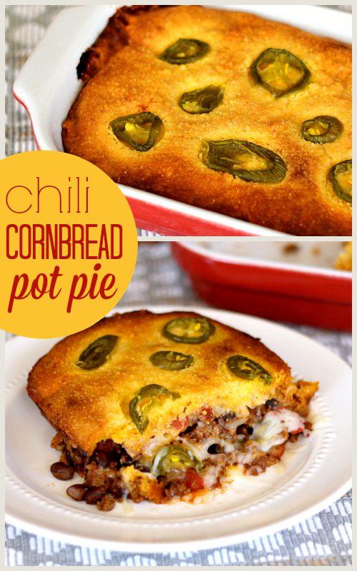 Chili Cornbread Pot Pie