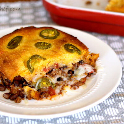 Chili Cornbread Pot Pie