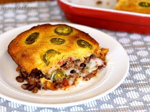 Chili Cornbread Pot Pie | The Weary Chef