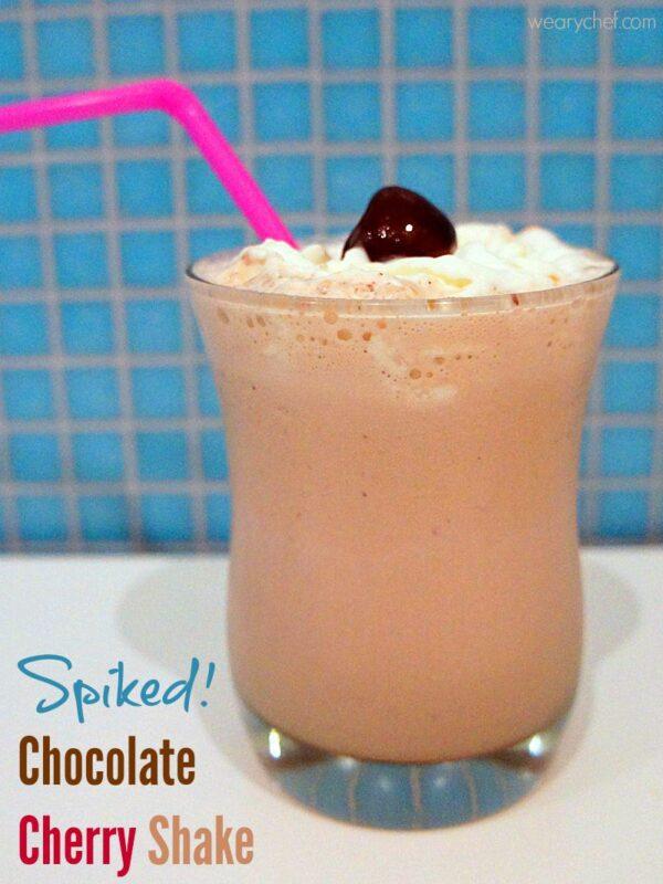 Chocolate Cherry Milkshake - Make it a cocktail or a kid-friendly dessert!