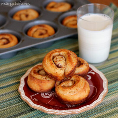 Secret Muffin Tin Cinnamon Buns: The secret is how easy they are to make!