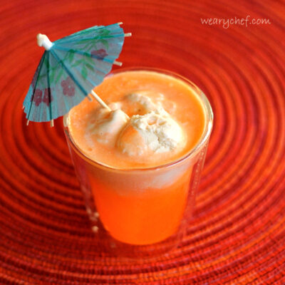 Orange Creamsicle Float - Make it as a cocktail or a kid-friendly treat!