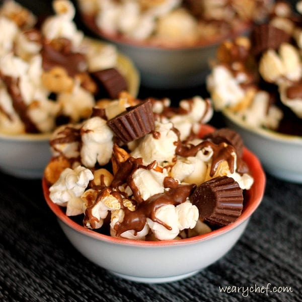 Easy Chocolate Peanut Butter Popcorn   The Weary Chef