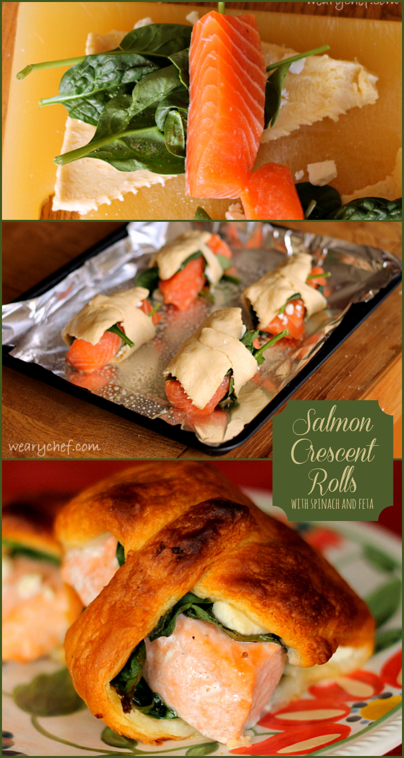 The Salmon Crescent Rolls are so simple to make and make a perfect party food or dinner!