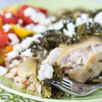 Slow Cooker Chicken Thighs with Artichokes