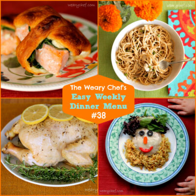 Easy Weekly Dinner Menu 38: Bring out the chicken!