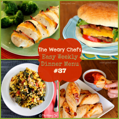 Easy Weekly Dinner Menu 37: Hasselback Chicken, Ranch Burgers, and more!