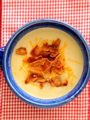 Easy Potato Soup with Sneaky Cauliflower!