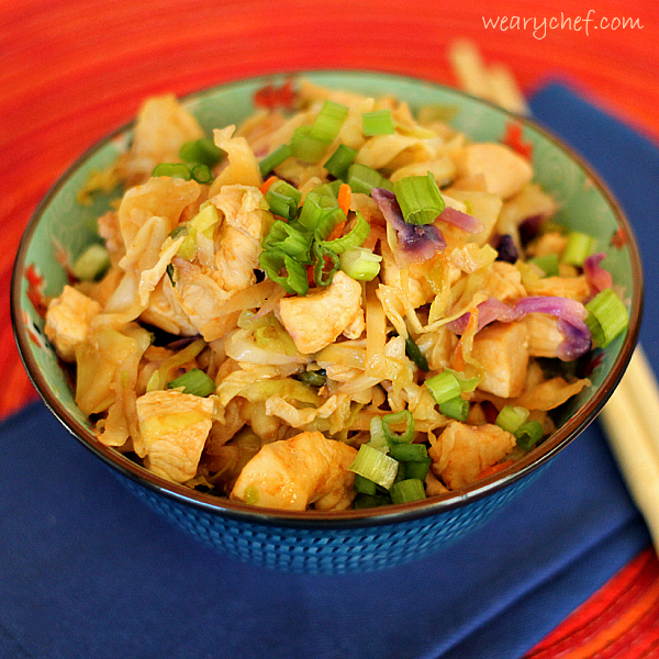 Asian chicken cole slaw
