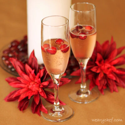 Cranberry Mimosas: A fun and festive cocktail!