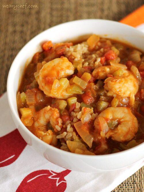 Healthy Shrimp Etouffee
