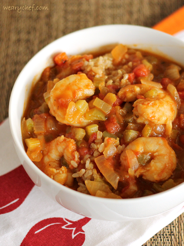 Healthy Shrimp Etouffee