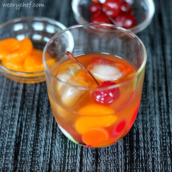 Old Fashioned Cocktail with Mandarin Oranges